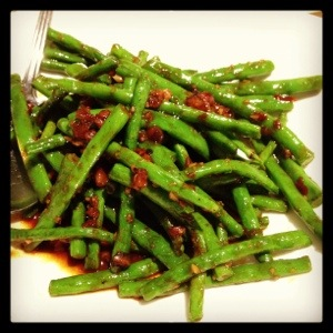Wok-fried French Beans with Minced Pork