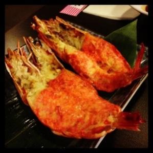 Complimentary yummy prawns!