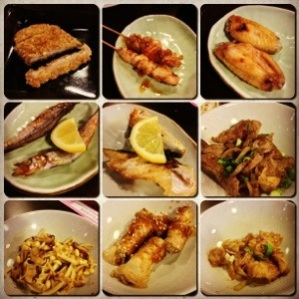 An assortment of grilled and stir-fry dishes
