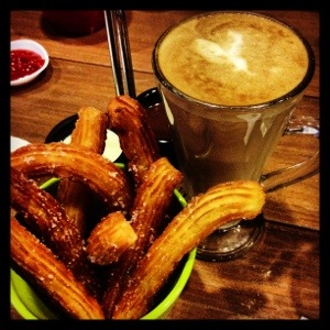 Churros to go with Liberty Latte