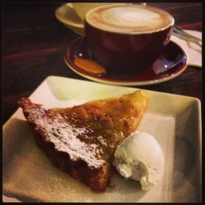 Wonderful Pear Tart to go with Latte