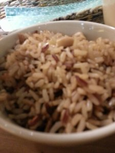 Brown rice to complete the meal