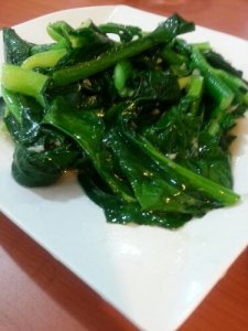 Stir fried Hong Kong Kailan with Garlic