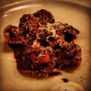 Cappelletti di Vitello with chicken liver & black truffle