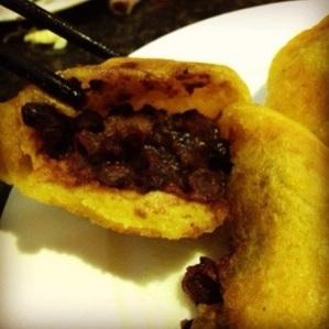 南瓜饼 with red bean paste fillings
