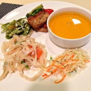 First dinner in Bhutan
