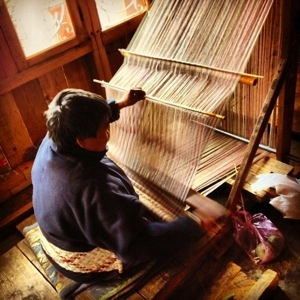 Very hard work in weaving
