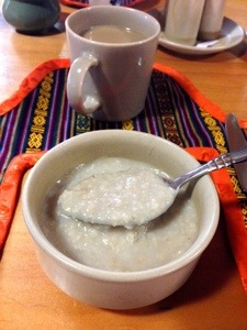 Hot oat porridge