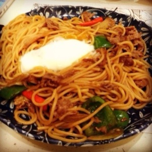 Spaghetti with Onsen Egg