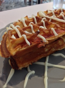 Bacon and Cheese Waffle