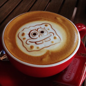 Spongebob Latte Art