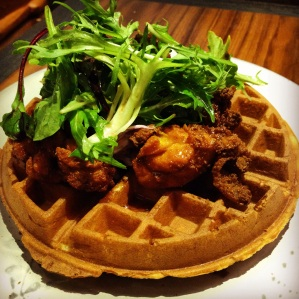 Waffles with Crispy Fried Chicken Tenders