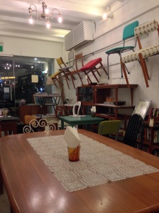 A cafe and a furniture shop!