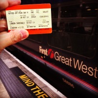 My first UK rail ticket!