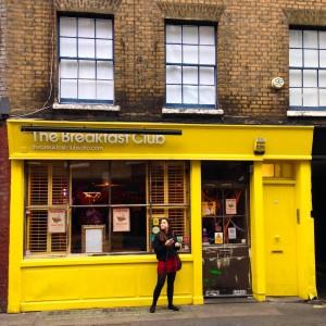 Bright yellow exterior