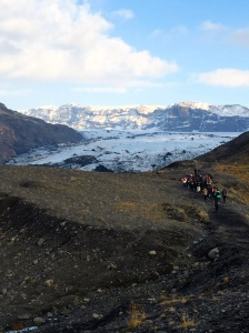 Quite a hike to the glacier edge