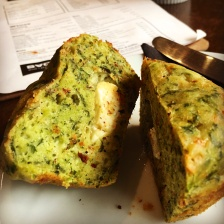 Spinach and Fetta Muffin