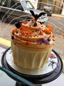 Giant bat cupcake