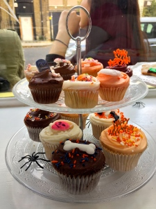 Halloween-themed cupcakes