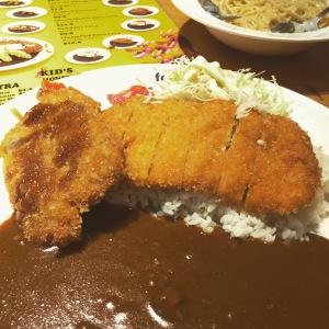 Chicken Katsu Curry with Pork Katsu side