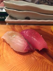 Hirame (flounder), Chutoro (mid fatty tuna)