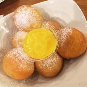 Donuts with Salted Egg Dip