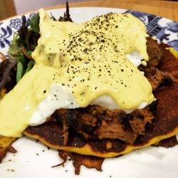Pulled Pork Pumpkin Pancake