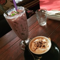 Latte and Yoghurt Shake