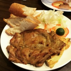 Boneless Grilled Chicken Whole Leg with Baguette