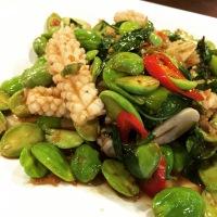 Thai style Petai with Squid