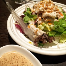 Thinly sliced Kurobuta Pork Shabu Shabu Salad