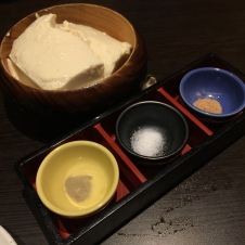 Hot Tofu served with 3 kinds of salt