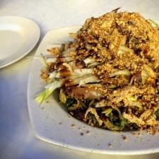 Deep Fried Kangkong with Cuttlle Fish