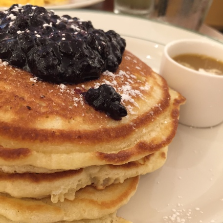 Pancakes with Warm Maple Syrup with Wild Blueberries