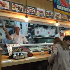 Busy sushi chefs