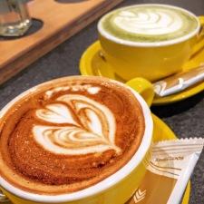 Latte and Matcha Latte