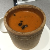 Tomato Bisque with Black Truffle 竹筒番茄忌廉汤
