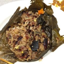 Wild Rice in Lotus Rice 野米荷叶饭