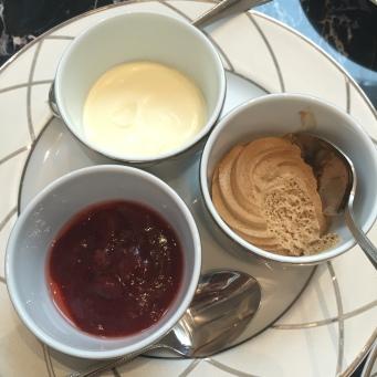 Clotted-cream, Mascarpone Cream and House made Wild Strawberry Preserve