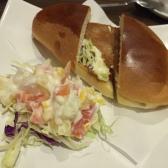 Pork Chop Bun with Salad