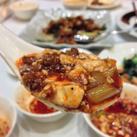 "陳麻婆豆腐 ""Chen's Mapo Doufu"" Stir-fried Tofu in hot Szechwan Pepper-flavoured Meat Sauce"