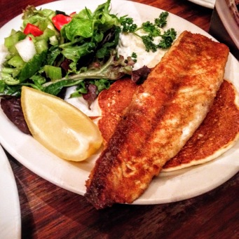 Barramundi with Salad