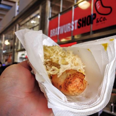 Weisswurst with Sauerkraut