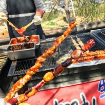 Chicken Skewer and Octopus Skewer