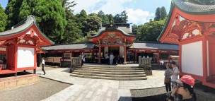 The main shrine hall was closed today