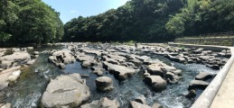 甌穴群 Oketsugun, a collection of some of the world's largest potholes