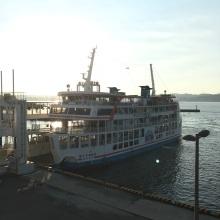 Ferry terminal on Sakurajima