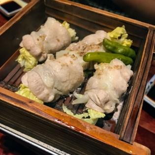 白菜の豚バラロール蒸し Steamed Roll Chinese Cabbage with Pork Back Ribs